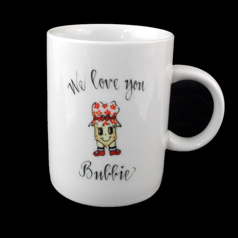 Personalized Judaica  Bubbie Mug-gift idea, personalized gifts, porcelain, coffee mug, coffee cup, personalized coffee mugs, coffee mugs, unique coffee mugs, judaica, judaica gifts, judaica