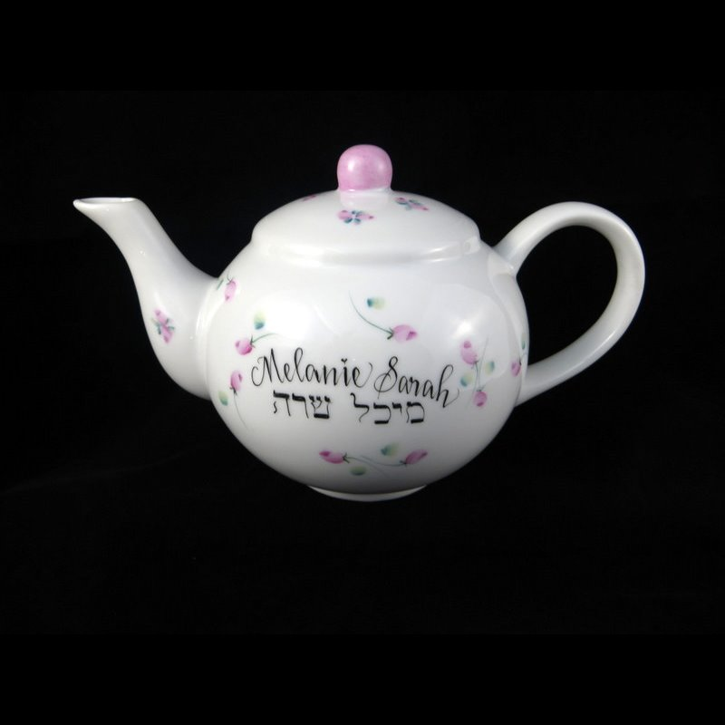 Personalized gifts baby gifts teapot bank personalized hand painted childs teapot bank negle Choice Image